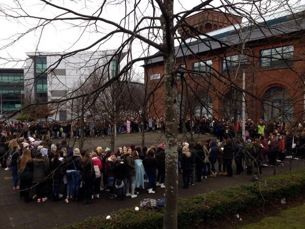 Crowd outside Capital for @5SOS - are you here?! #5SOSRadioTour http://t.co/8HgP48jogh