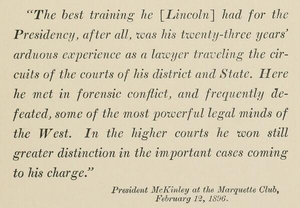 Happy birthday, Abe! What prepared him for the presidency? From Lincoln, the Lawyer. Read it @ http://t.co/tnihmbwzBX http://t.co/xfpb3hPEbQ