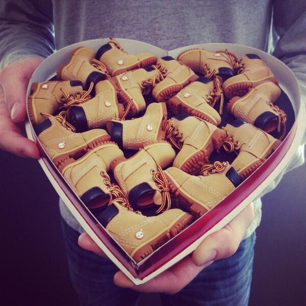 Better than chocolate. #timberland #valentinesday http://t.co/i6nC6Fxf3S