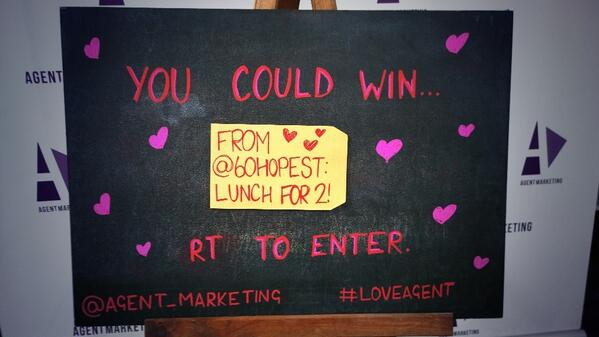 Right...first prize for our #LoveAgent comp is from the fantastic @60hopest... http://t.co/QptQRsvPP1