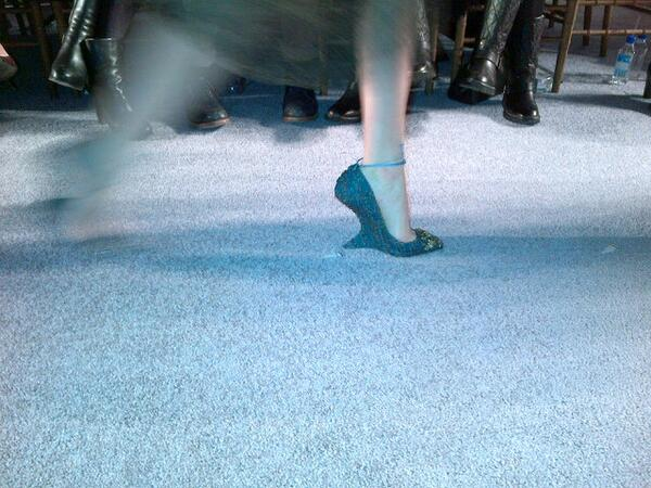 RT @Avril_at_BAZAAR: Detail..shaped cut out wedge heels at Marchesa @harpersbazaarus #NYFW http://t.co/u9QsR8ws0F