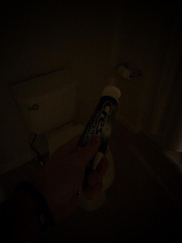 .@Charmin @Kohler @Crest @crowdly am I doing it right? Hard to see w/o #glowinthedarkTP or a nightlight seat. http://t.co/p02YjsoY3E