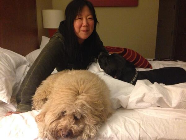 Power is back on! With @margaretcho ice storm 2014 http://t.co/yt0HiSqOOn