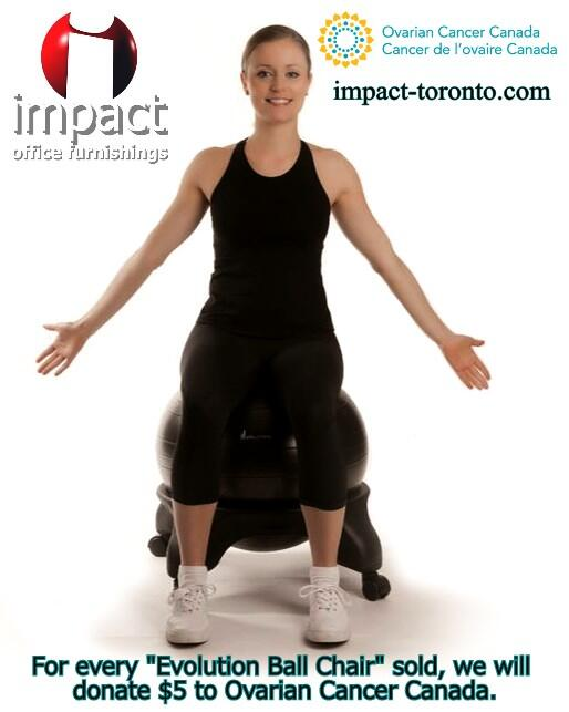 Fight ovarian cancer and exercise at work. For each Evolution Ball Chair sold we will donate $5 to Ovarian Cancer Can http://t.co/dlFAzBSa9l