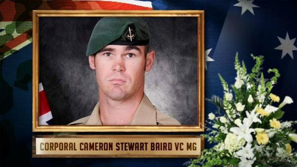 Our highest military honour: 100th Aust Victoria Cross awarded to Cpl Cameron Baird, who was killed in Afghanistan http://t.co/5vZdYKlJJP