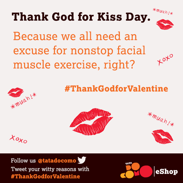 "#HappyKissDay! Why are you ""thankful"" for Kiss Day? Tweet your witty reasons with #ThankGodforValentine http://t.co/AzO2JMoPJs"