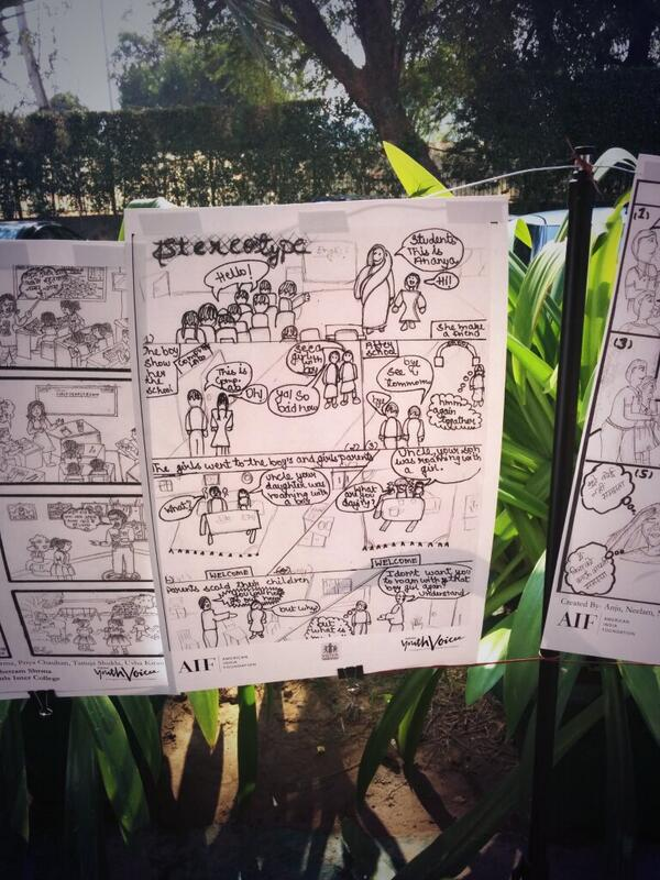 Students explored mediums like comic strips, animations, documentaries, etc to express their thoughts #AYVLive2014 http://t.co/imPNoRpqPH