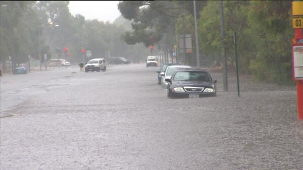 Goodness gracious! RT @TenNewsADEL: Over forty to under water - flooding wreaks havoc across the city http://t.co/XyzCcIT76b