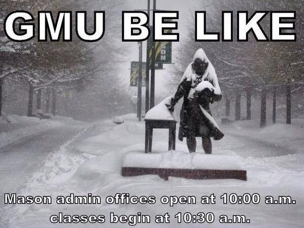 Saw this meme on Facebook and thought it was funny! Gotta love mason ! #gmu