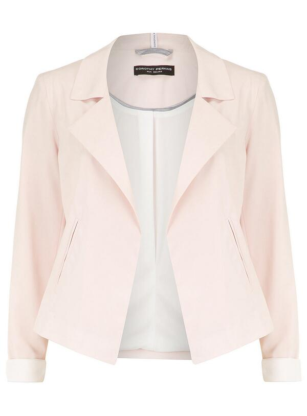 Dorothy Perkins (@Dorothy_Perkins): #TweetItWinIt We ♥ this sweet Nude Waterfall Biker Jacket. RT for your chance to win! > http://t.co/aRqJEmzumn http://t.co/GdHrnQECGo