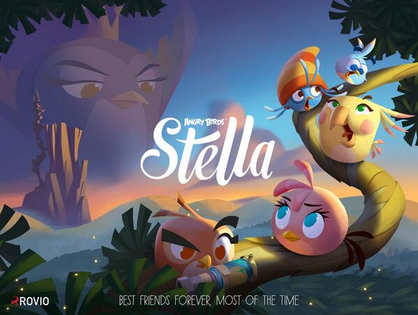 Today we'd like to introduce you to Stella and her group of friends - Angry Birds Stella will be coming this fall!  http://t.co/eykDCPS0Xo