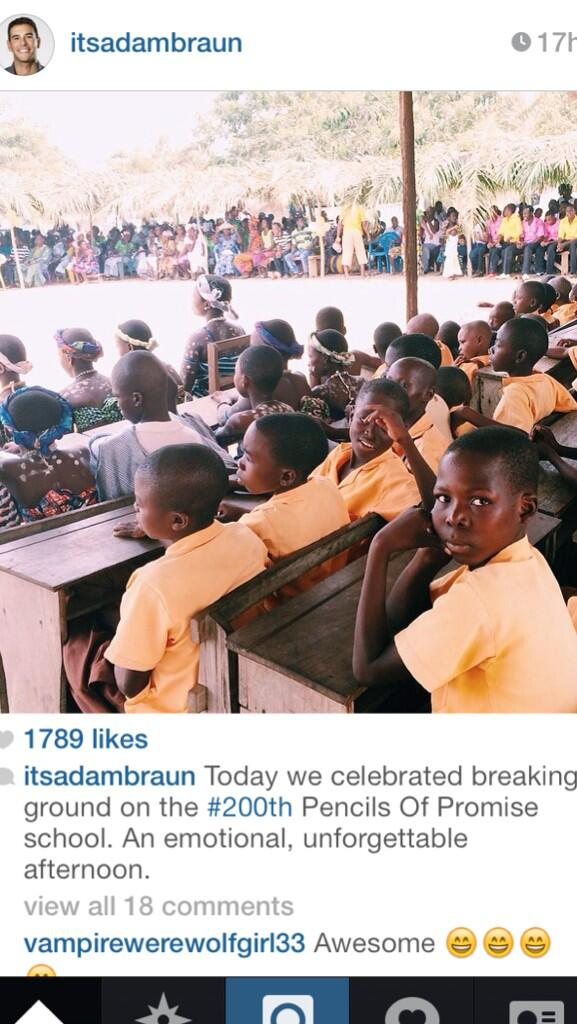 Congrats @PencilsOfPromis & @AdamBraun on breaking ground on their 200th school!! #impact http://t.co/rHyNZPqhx1 http://t.co/Vk92wHHUsj