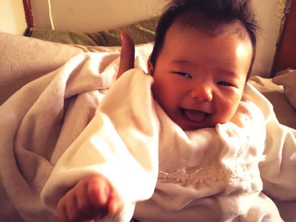 満面な笑みな娘! 南相馬で元気に育ってます! http://t.co/CDdEdmzw1e