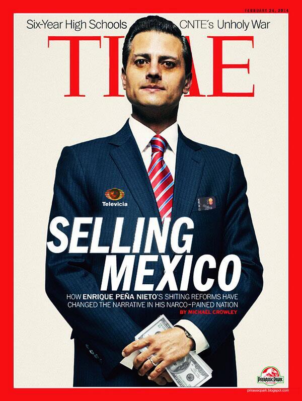 Esta es la verdadera portada de la revista @TIME #SavingMexico y no la que compró Peña Nieto con dinero del erario  http://t.co/pItnB6mG6p