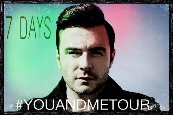 Shane Filan World (@ShaneFilan79): 7 days to go!! @ShaneFilan http://t.co/6Adf8AXjAc #YouAndMeTour http://t.co/1cNj1MJaHH