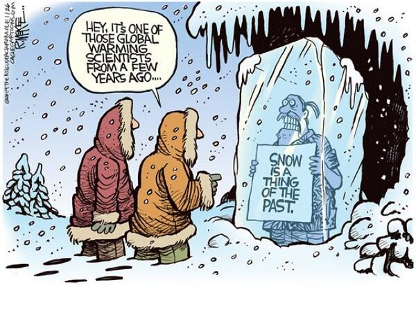 CBS Blames Global Warming for Harsh Winter Weather: 'Excess heat generated by all this warm water is destabilizing this gigantic bucket of cold air….So that's the irony, that heating could cause gigantic storms of historic proportions'