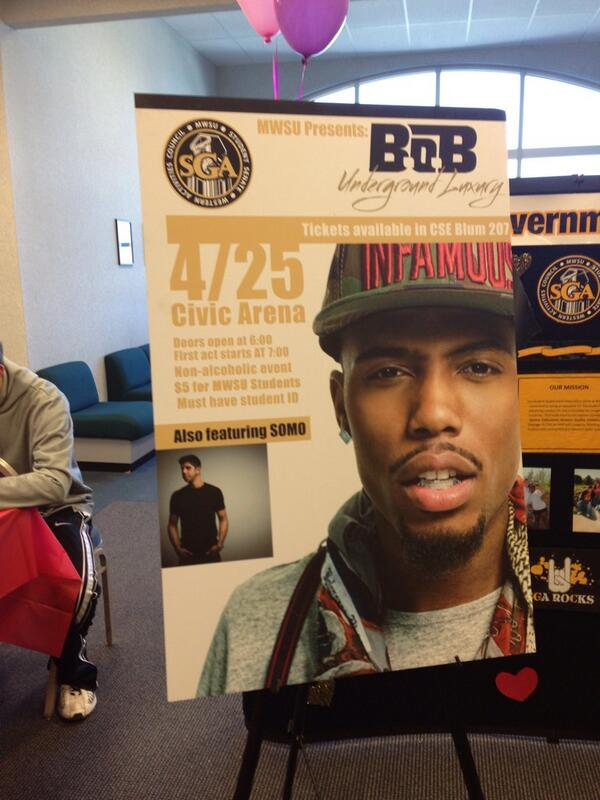 The spring concert has been announced! B.o.B and SOMO! http://t.co/YxBfFFGOMB