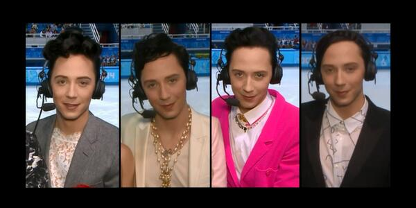 I adore that by dressing as he wishes, @JohnnyGWeir is the biggest bad-ass in all of Sochi. http://t.co/NLShvI1ADR