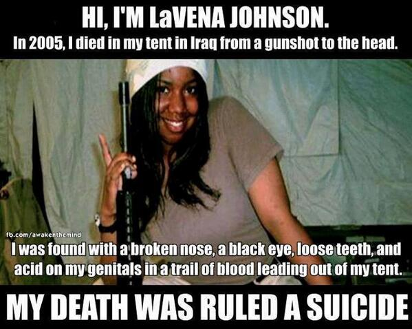 What was done to LaVena Johnson is a stain on America. Read her story & sign the petition  http://t.co/NaWlvzj7qG http://t.co/eXFDlhR5jm