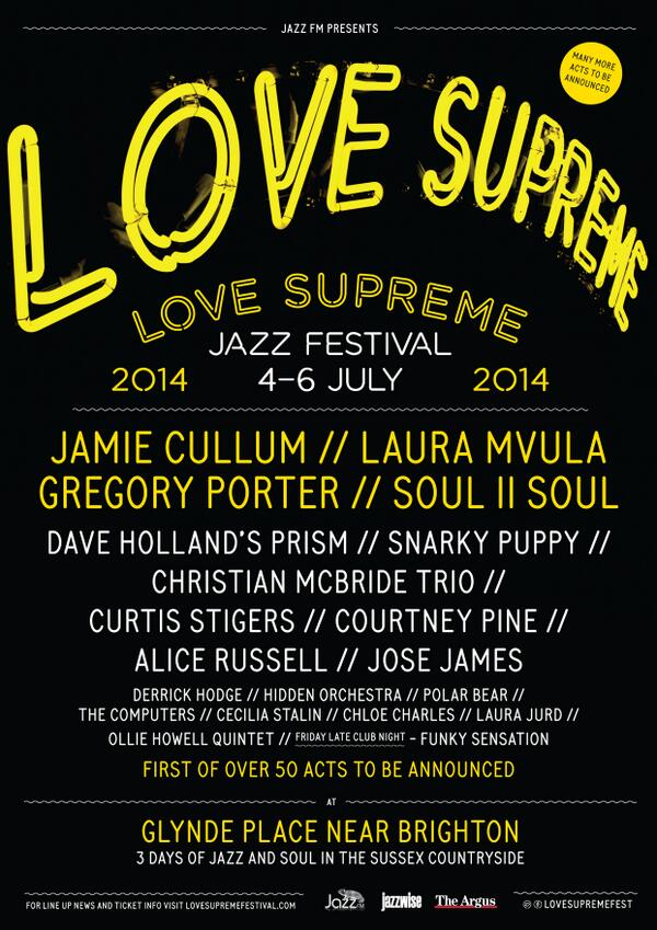 Announced today! I'm playing @lovesupremefest in July alongside @I_gregoryporter, @jamiecullum, @RealSnarkyPuppy... http://t.co/XENQdw6nhy
