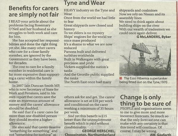 Benefits for #carers are simply not fair @EveningChron @CarersUK @CarersTrust http://t.co/Pl1eEUjiLg