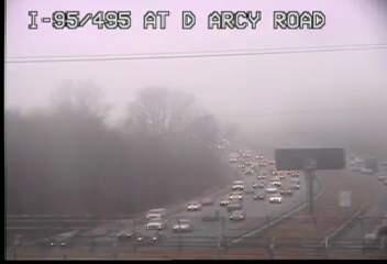 Fog has settled in along the Beltway through Prince Georges County. Low visibility. Use caution. #MDTraffic http://t.co/qJJ0gWxIwa
