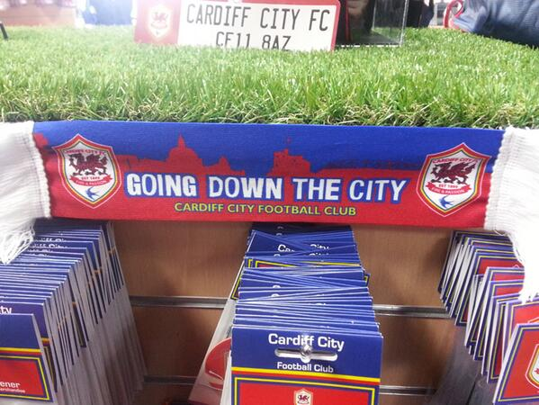 I've seen 'We're going Up!' merchandise, or 'Promoted!', or 'Champions!' merchandise, but never - ever - 'Going Down' http://t.co/q5tuMJuT69