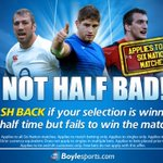 Big game in the #6Nations at 3pm as England host Wales. CASH BACK if your team is winning at HT but fails to win! http://t.co/SxuehEmGZV