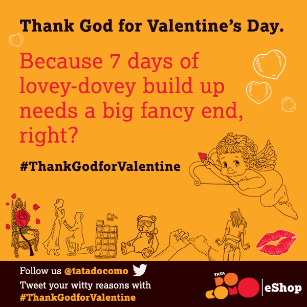 "#HappyValentinesDay! Why are you ""thankful"" for Valentine's Day? Tweet your witty reasons with #ThankGodforValentine http://t.co/tPr6eSeGic"