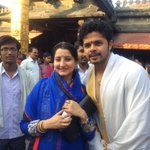 With wife @ the most amazing mookambika temple (Karnataka ) http://t.co/sHTYsQrfI7