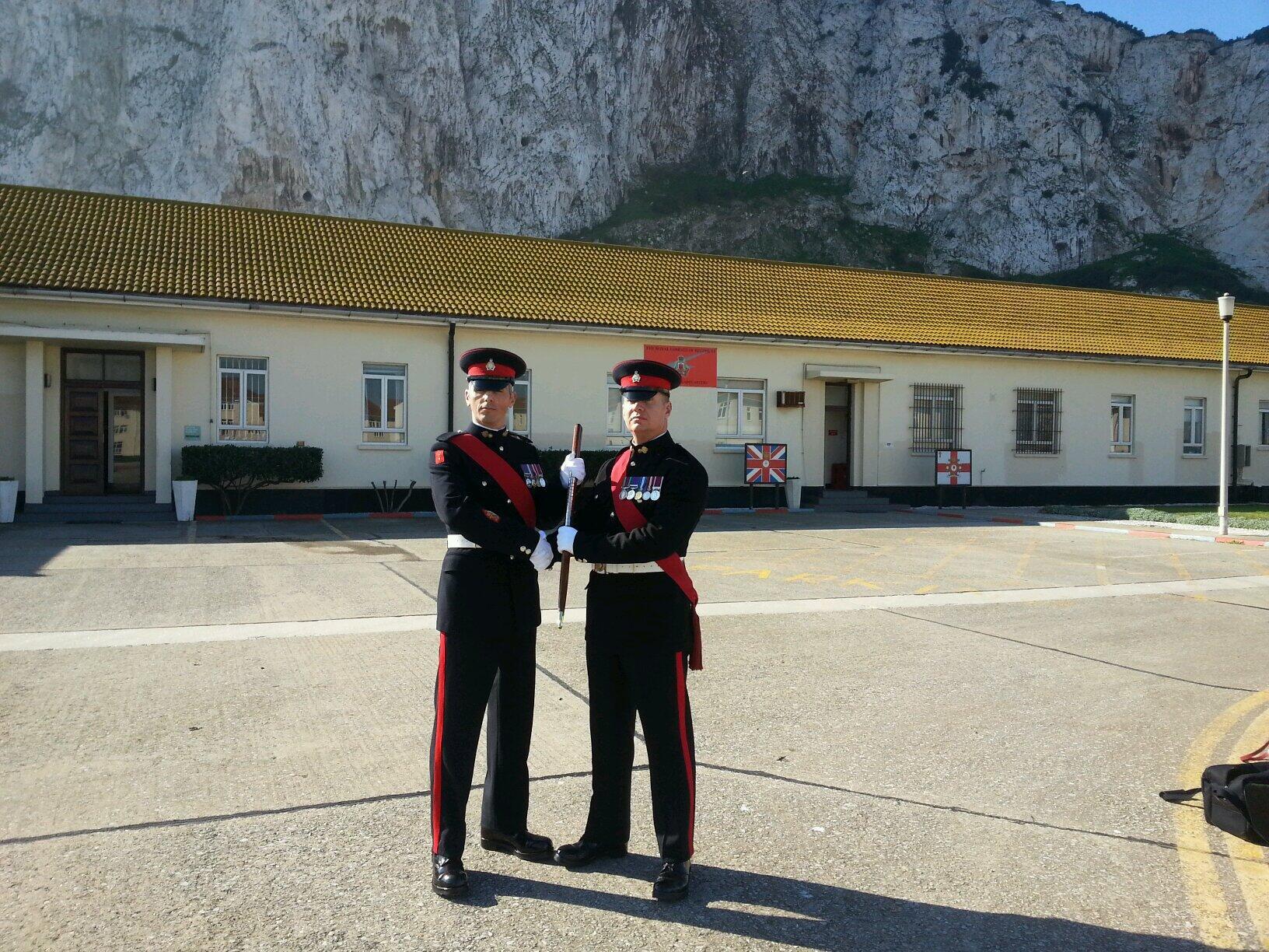 Handover of RSM @rgcareers new RSM WO1 Valverde #Gibraltar http://t.co/DipFayHxJQ