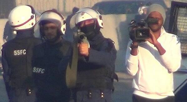 هنا يكتمل ارهاب السلطة بإعلامها المأجور و فبركة الحقائق!!. #المعامير الجمعة 14 فبراير 2014م. http://t.co/f46xpRhLDw