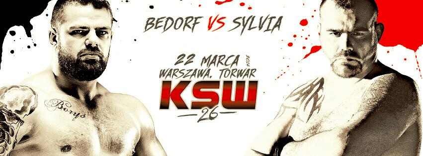 KSW26: Karol Bedorf vs Tim Sylvia @timsylviamma http://t.co/3pf90Zo05z