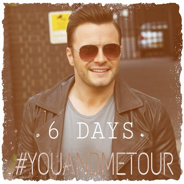 Shane Filan World (@ShaneFilan79): 6 days to go!! @ShaneFilan http://t.co/6Adf8AXjAc #YouAndMeTour http://t.co/Ibwm88QYbx
