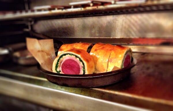 Kev's hare & rabbit Wellington going down a storm tonight http://t.co/qE7UB3G2jF