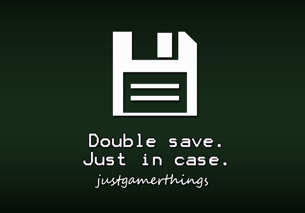 GameStop (@GameStop): Double save. Just in case. #JustGamerThings http://t.co/V5k4YFeynE