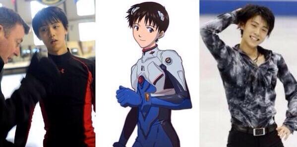 Making the rounds on the Japanese internet; figure skater Yuzuru Hanyu is basically a real life Shinji Ikari: http://t.co/Si20i7tqhi