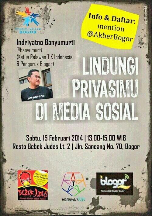 Yuk siang ini ikut kelas @AkberBogor bersama om @banyumurti di bebek judes Bogor http://t.co/XkjRMvrqoA