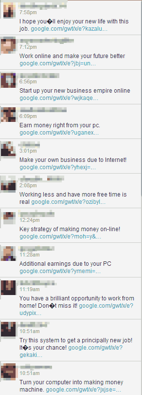 #Warning! Massive Twitter Spam attack uses Google links in DMs. Don't click! Pls RT http://t.co/lwvAj6OVjU
