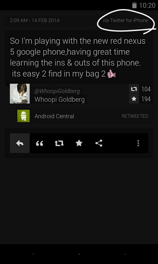 @androidcentral that twitter app though ;) http://t.co/YJqrz6SFeQ