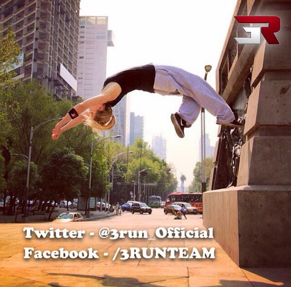 Epic shot of 3RUN Ambassador - @KatieMcDonnelll in Mexico busting a Wall Flip RT #parkour #Freerunner http://t.co/VtRLlcwsbf