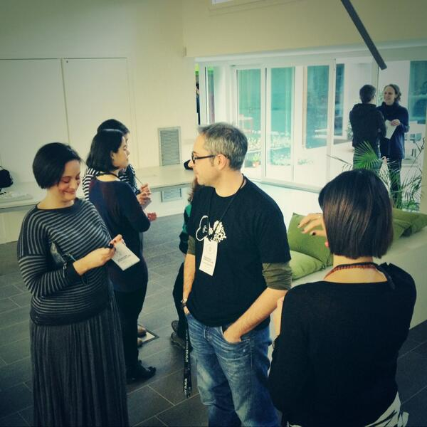 "Siamo pronti al #wiad14 @lucaquattrin ci racconterà di ""Enhanced contextual interactions"" #hartframes with @oriannab http://t.co/5VNmIqvCtM"