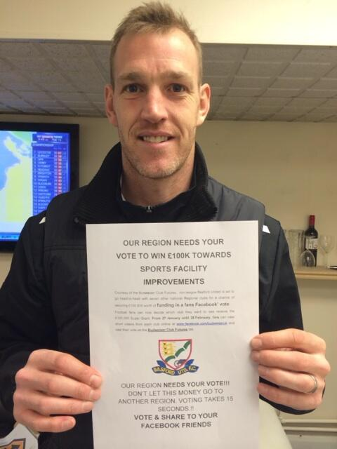 Please vote for Basford united to win 100k towards facility improvements! http://t.co/64phJqSiYP