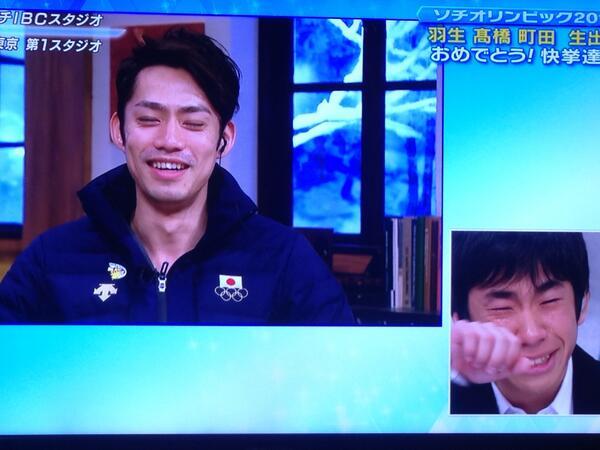 どっちがオリンピックでた人?ってくらい泣いてる織田さん。 http://t.co/zkRNUTVJ8b