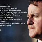 Did he mean it at the time, then forget about it? Or did he say it cynically, never believing it? http://t.co/hoRO03fscR #CameronMustGo