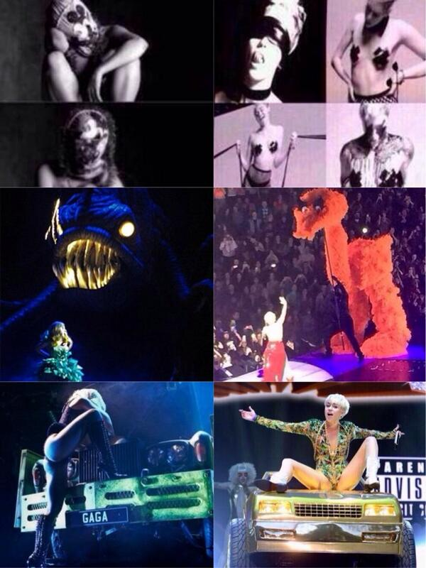 Which tour is better? RT for the Monster Ball by Lady Gaga Fav for Bangerz Tour by Miley Cyrus http://t.co/8zyl5AvKyM