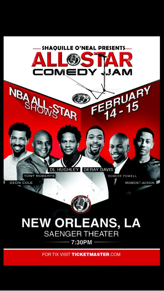 SHAQ (@SHAQ): Who's coming to my #ShaqAllStarComedyJam tonight? My boy Tigger will be the DJ tonight? Last night was crazy! http://t.co/EiBMm7bnxG