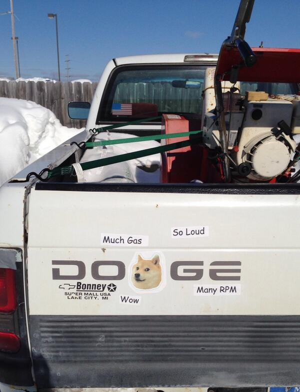Wow. Much Gas. So Loud. Many RPM. #doge #dodge @Dodge http://t.co/T8eE3zczvb