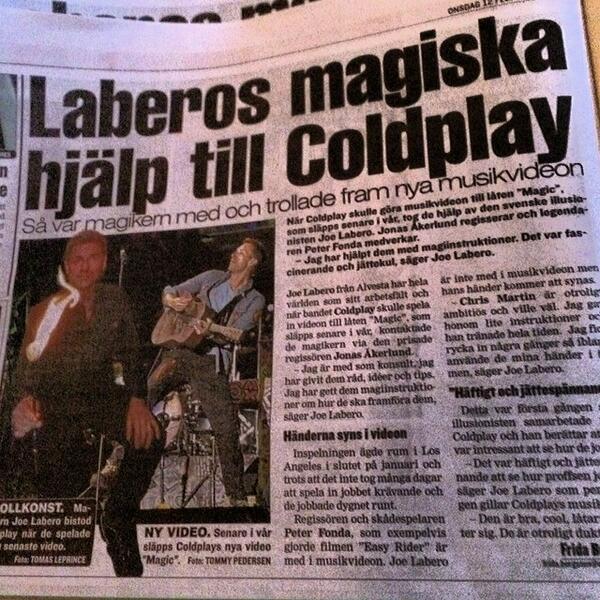[LP6-Rumor] Coldplay rueda video de su nuevo single, Magic, a estrenar en mayo http://t.co/028QtjhnHR http://t.co/4qQCN7Oj96