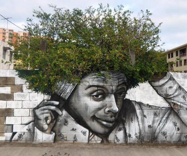 When #StreetArt meets Nature. http://t.co/CbrLPwLfGH